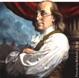 Benjamin Franklin the first true and real American