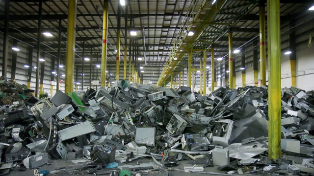 Piles of e-waste